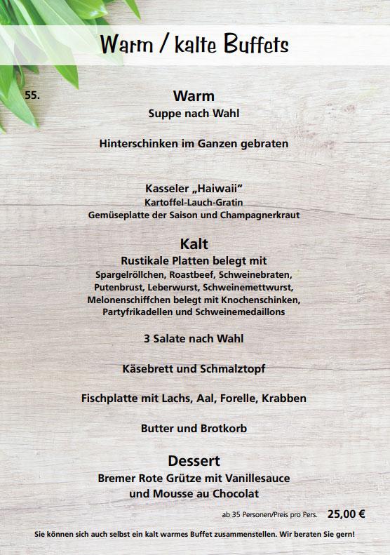 Partyservice - Warm/Kalte Buffets